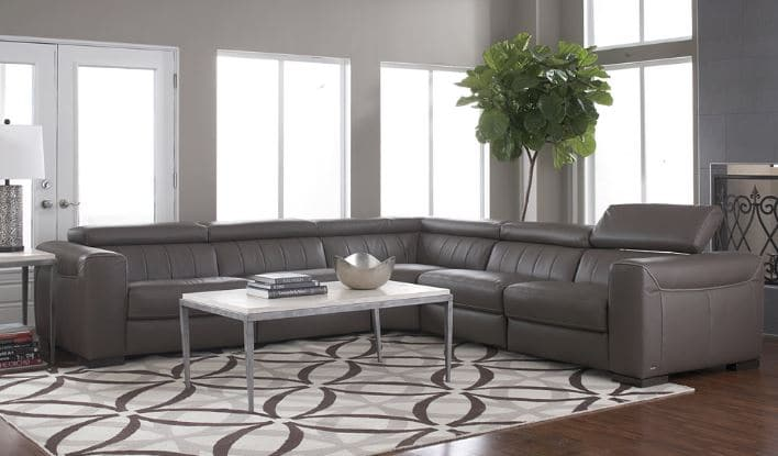 Our Favorite Top Grain Italian Leather Sectionals - Leather ...