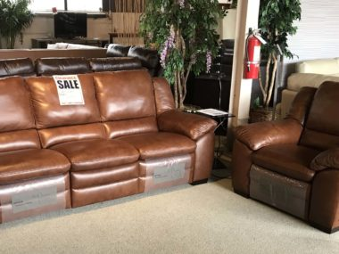 A450 Natuzzi Cooper Power Sofa and Power Chair