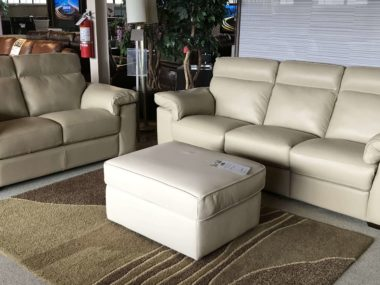 B757 Natuzzi Beige Sofa and Loveseat
