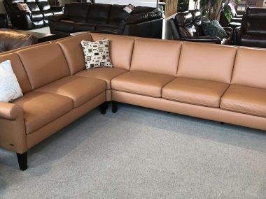 C060 Natuzzi Copper Sectional