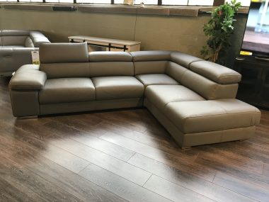 Nicoletti dark taupe sectional