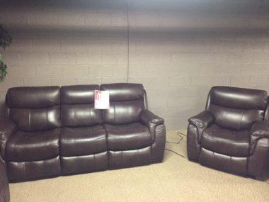 Manwah Chocolate Power Sofa & Power Chair