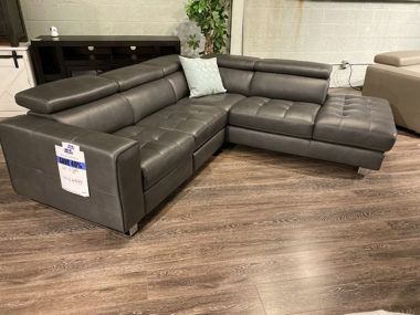 Schillig Stone Grey Power Sectional