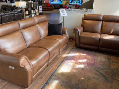 C124 Natuzzi Ironico Power Sofa and Loveseat