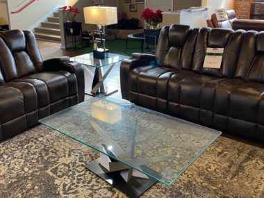 Chocolate Home Theater Sofa and Loveseat
