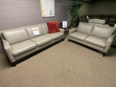 Natuzzi C009 Greige Sofa and Loveseat MG_8876
