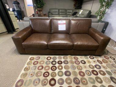 Natuzzi C123 Distressed Leather Sofa