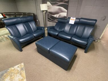 IMG Nordic Navy Sofa, Loveseat, and Ottoman